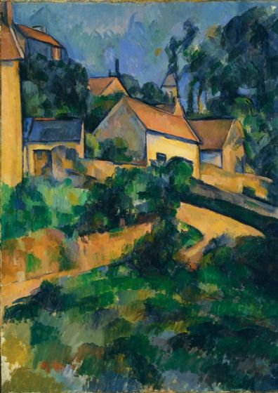 Cezanne, Paul: Turning Road at Montgeroult. Fine Art Print/Poster. Sizes: A4/A3/A2/A1 (004221)